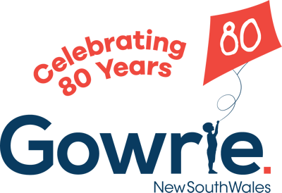Gowrie NSW 80th Logo